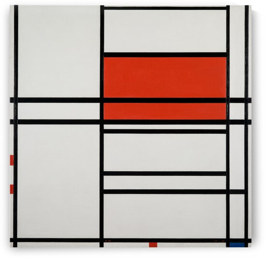 Piet Mondrian Composition of Red and White Composition 4 with red and blue 1938 by TOPARTGALLERY