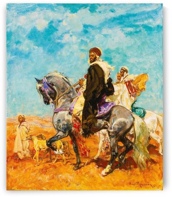 Henry Emilien Rousseau Cavaliers Arabes Dans Le Desert ca 1900 by TOPARTGALLERY