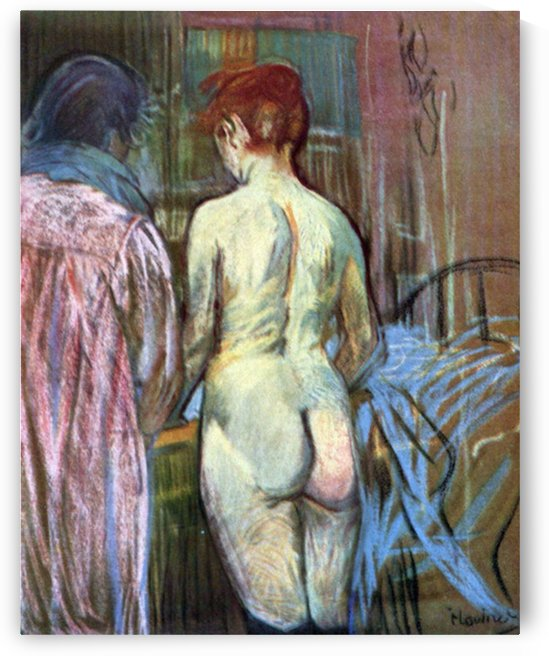 Two Girls from Behind by Toulouse-Lautrec by Toulouse-Lautrec