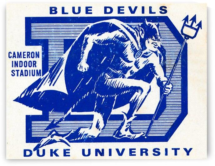 Vintage Duke Basketball Art by Row One Brand