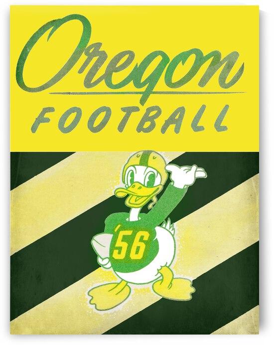1956 Vintage Oregon Duck Football Art by Row One Brand