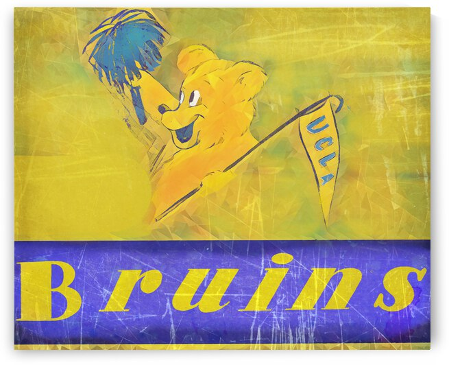 1946 UCLA Bruins Cartoon Art by Row One Brand