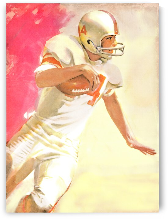 1963 Running Back Vintage Gridiron Wall Art by Row One Brand
