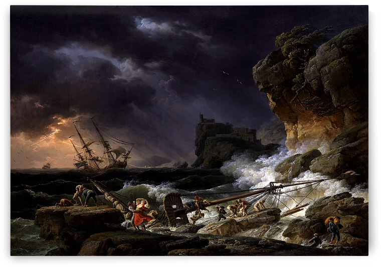 Shipwreck In A Thunderstorm_OSG by One Simple Gallery