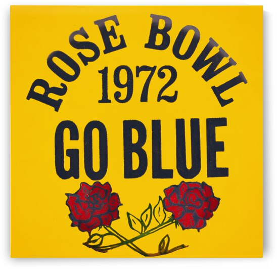 1972 Rose Bowl Go Blue Art by Row One Brand