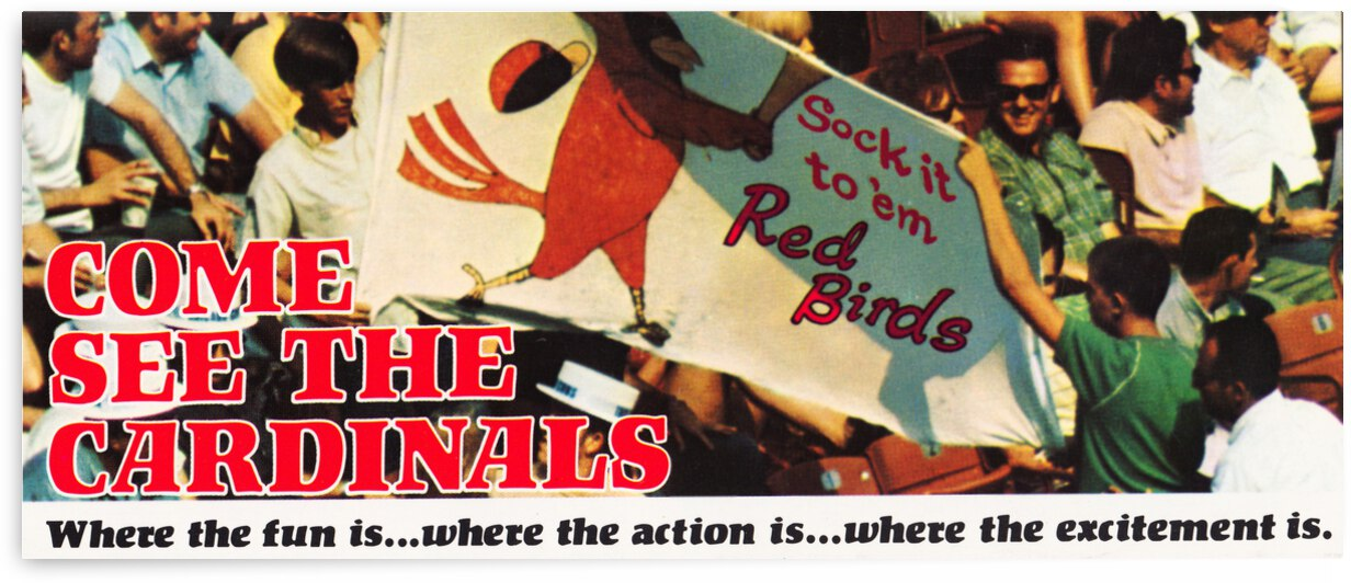 1970 St. Louis Cardinals Baseball Poster by Row One Brand
