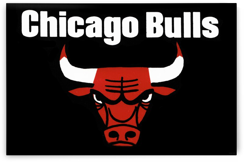 Vintage Seventies Chicago Bulls Art Poster by Row One Brand