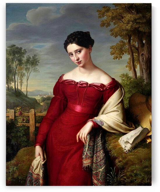 Beautiful Elegant Lady In Red_OSG by One Simple Gallery