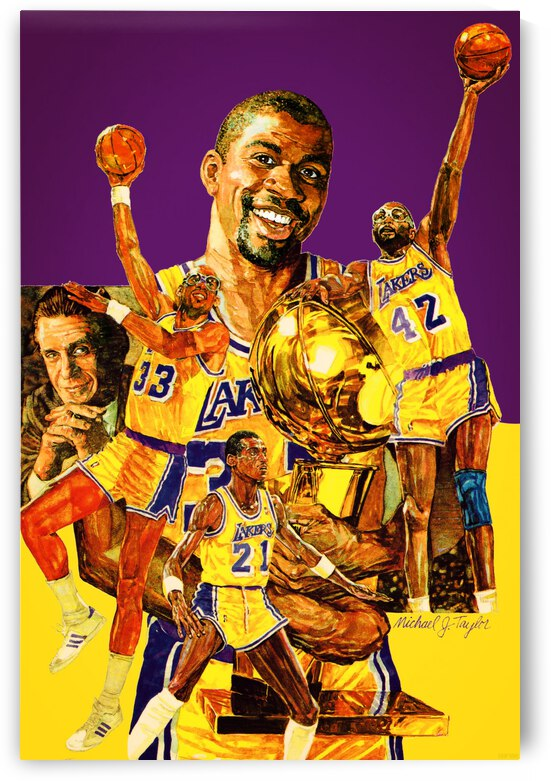 1987 LA Lakers Poster  by Row One Brand