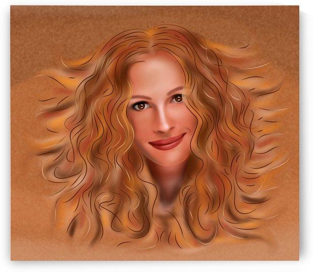 Julorobani - Julia Roberts portrait by Cersatti Art