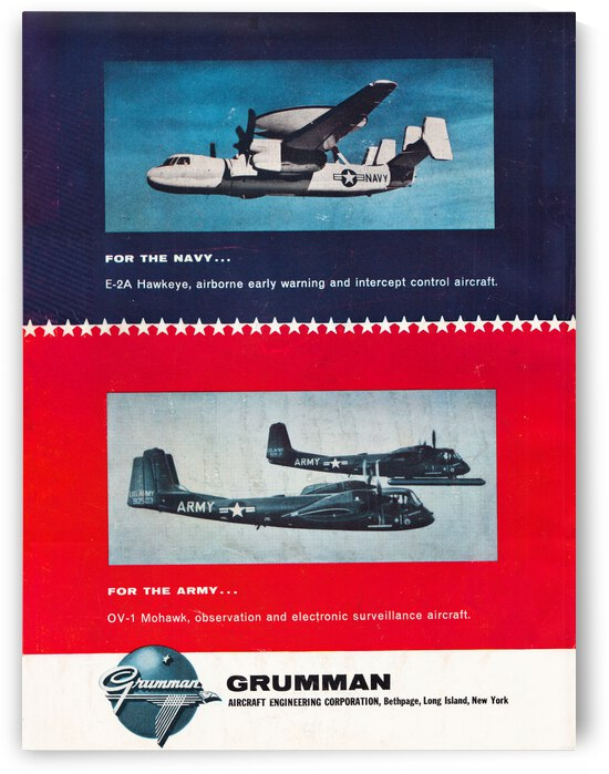 1965 grumman aircraft ad by Row One Brand