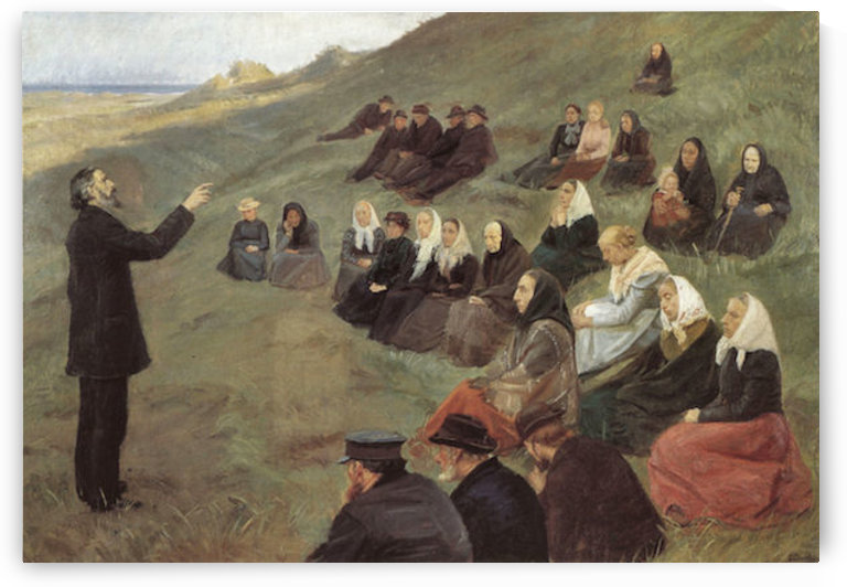 The missionary by Anna Ancher by Anna Ancher