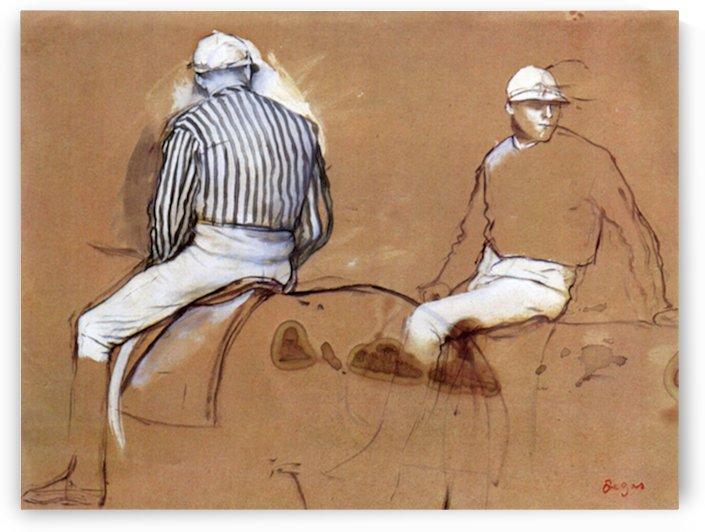 Two jockeys by Degas by Degas