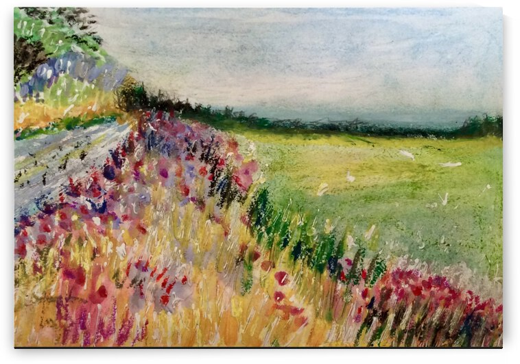 The path along the fields  by Zaramar Paintings