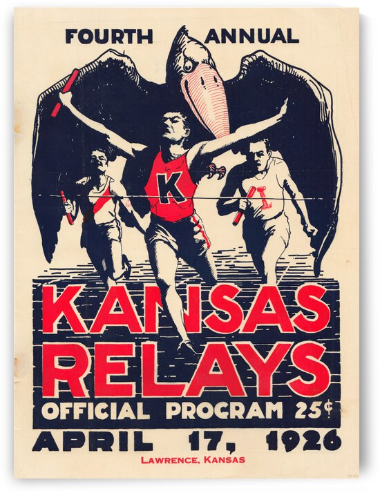 1926 Kansas Relays Poster by Row One Brand