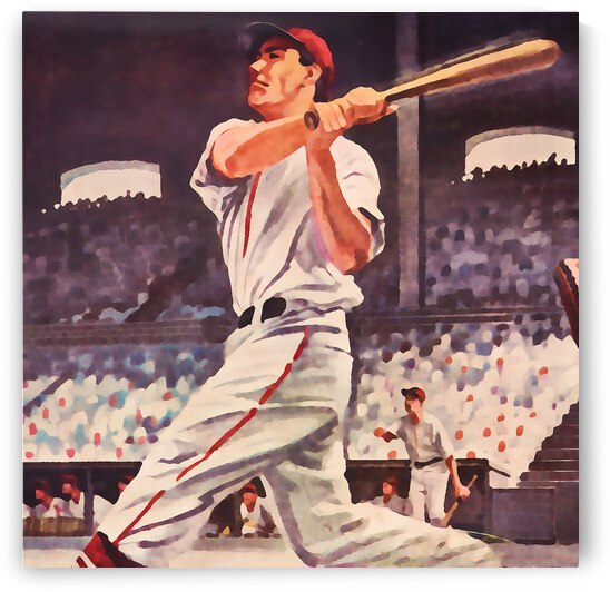 1947 Vintage Baseball Player Art by Row One Brand