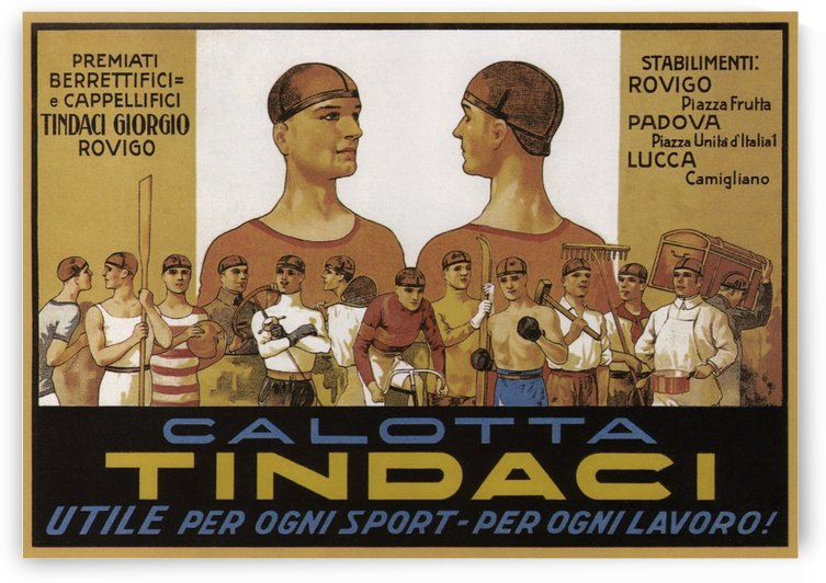 Calotta Tindaci Vintage Poster 1910 by VINTAGE POSTER