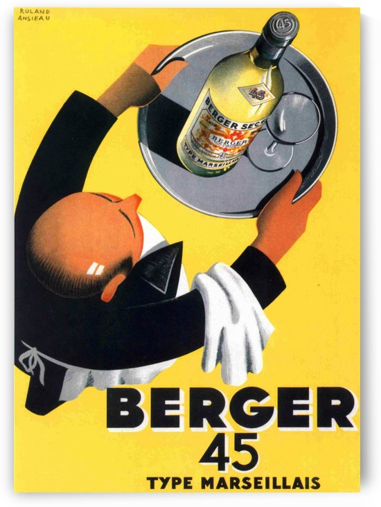 Berger 45 Poster Ad Roland Ansieau 1935 by VINTAGE POSTER