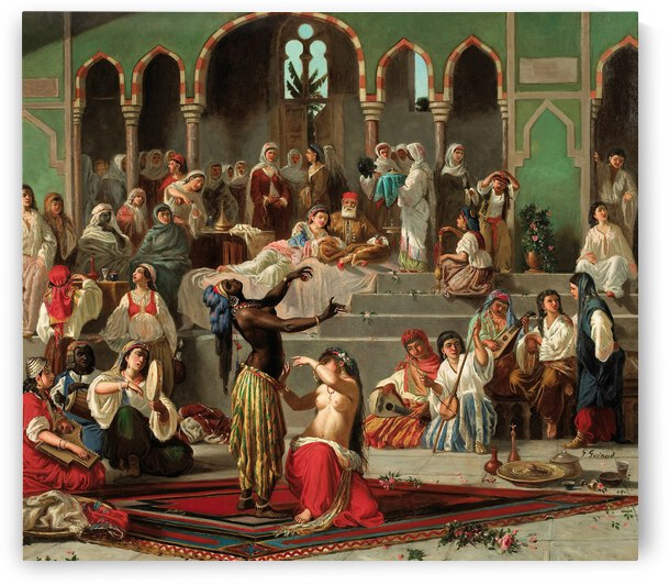 Georges Francois Guiaud The Dancers Of Harem ca 1880 by TOPARTGALLERY