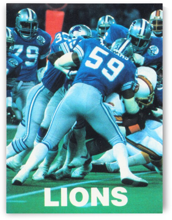 1984 Detroit Lions Retro Football Poster by Row One Brand
