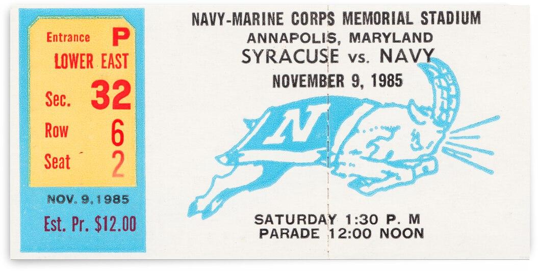 1985 Navy vs. Syracuse Football Ticket Canvas by Row One Brand