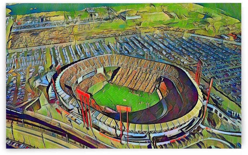 Candlestick Park San Francisco Art by Row One Brand