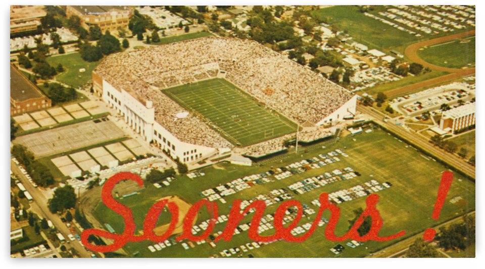 1966 Oklahoma Football Owen Field by Row One Brand
