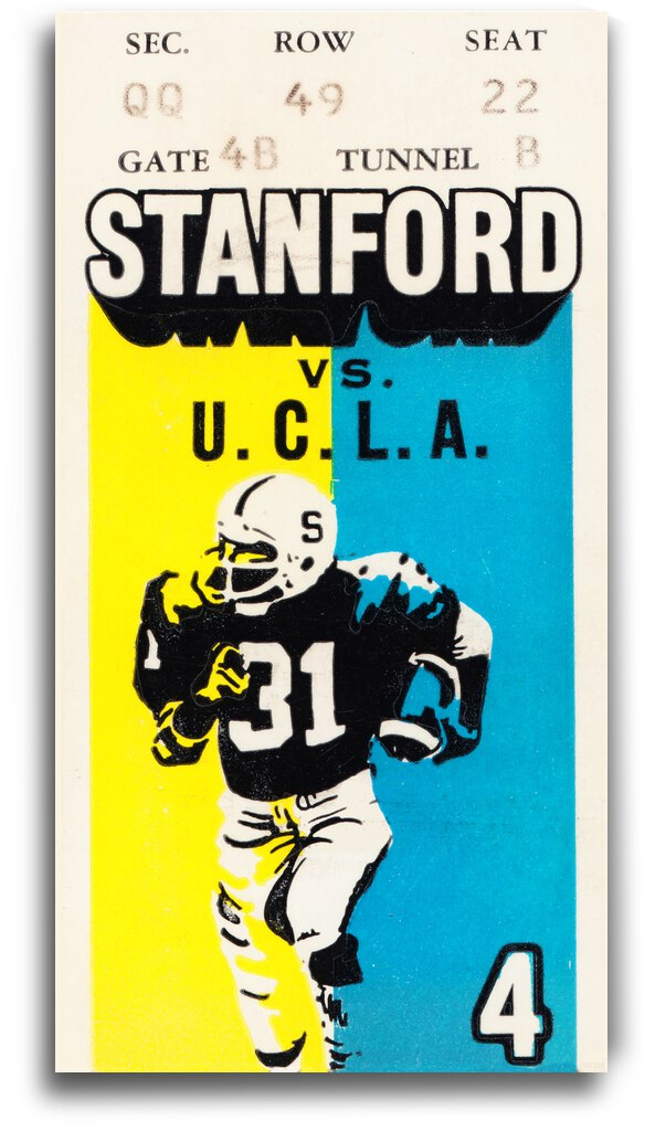 1979 UCLA vs. Stanford Football Ticket Canvas by Row One Brand