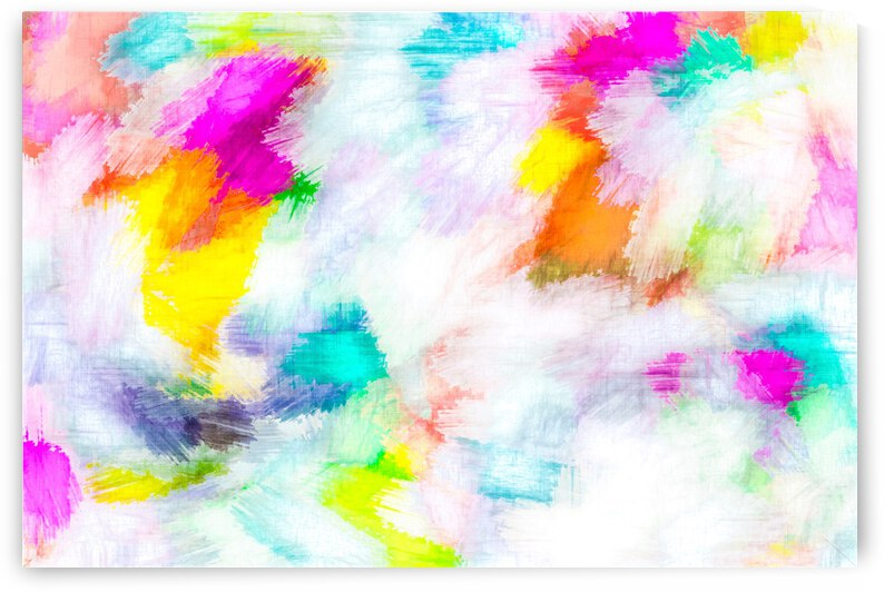 colorful painting texture abstract background in pink yellow blue orange by TimmyLA
