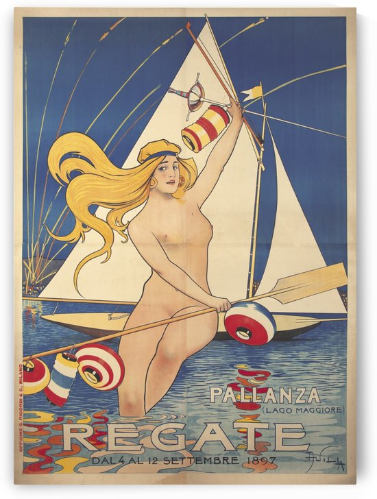 Pallanza Regate Original Poster by VINTAGE POSTER