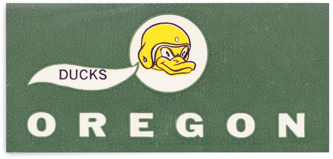 1963 Oregon Ducks Vintage Art by Row One Brand
