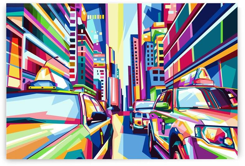 city street in pop art style copy 10000x6728 by billelux