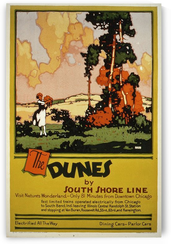 The Dunes 1927 by VINTAGE POSTER