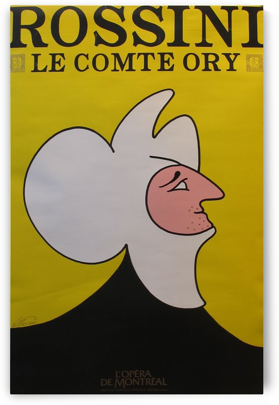 Rossini Le Comte Ory by VINTAGE POSTER