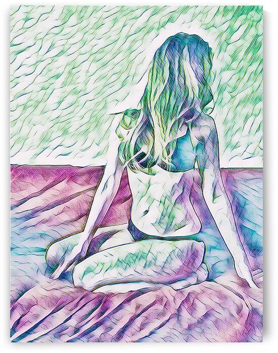 Drawing girl by Giulio Bardelli