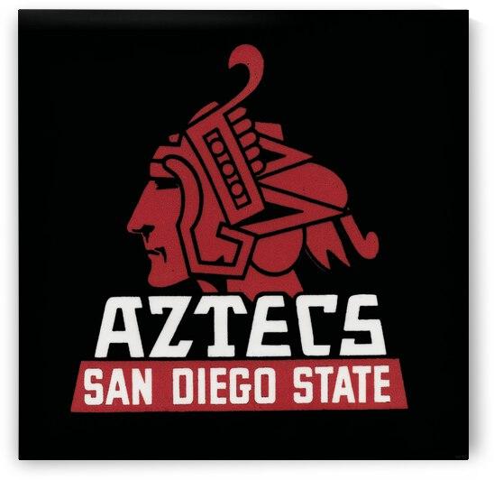 Vintage San Diego State Aztecs Art by Row One Brand