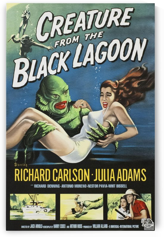 Creature From The Black Lagoon by VINTAGE POSTER