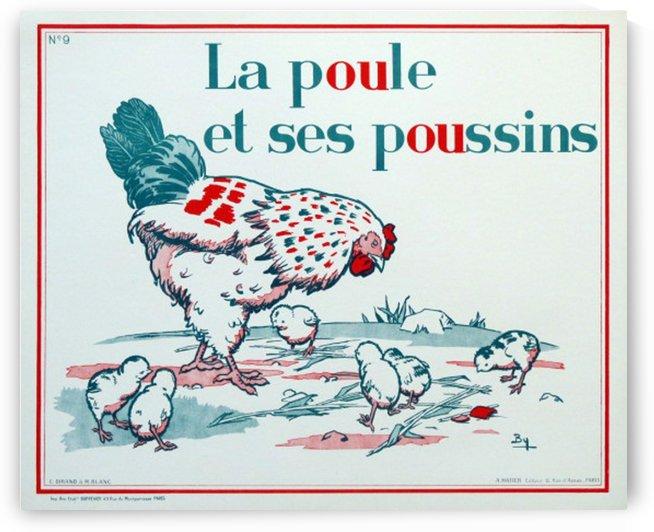 La Poule et ses Poussins by VINTAGE POSTER