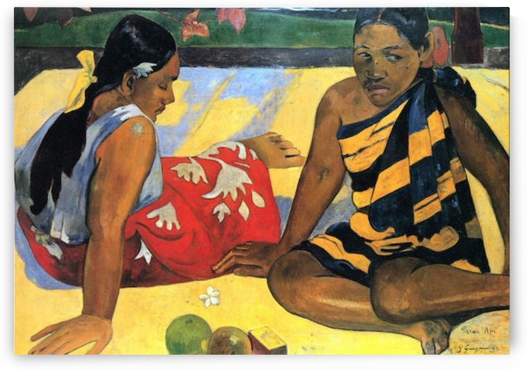 Two Women From Tahiti by Gauguin by Gauguin