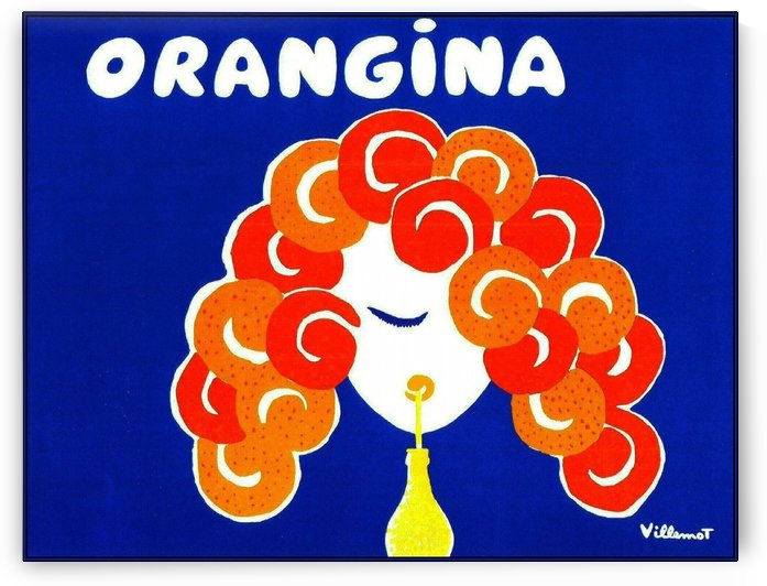 Bernard Villemont Orangina Advertising Poster by VINTAGE POSTER