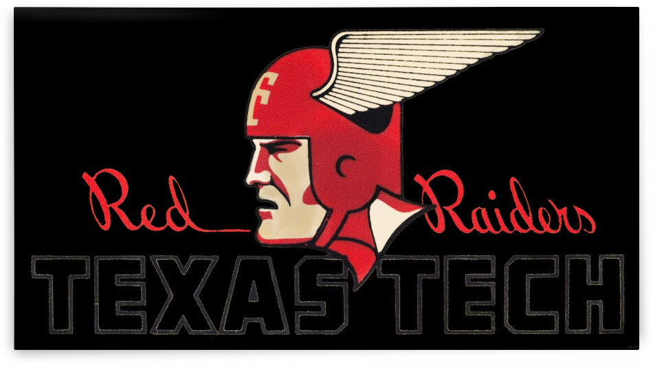 Vintage Fifties Texas Tech Art by Row One Brand