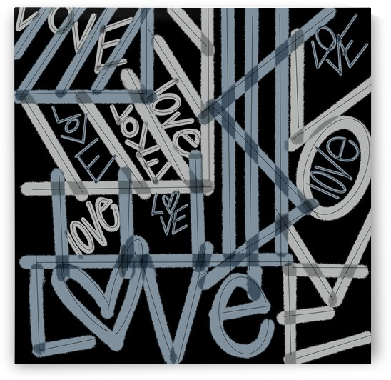 DIGITAL ILLUSTRATION - Abstract Love Lines   by Lisa Shavelson