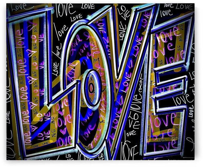 DIGITAL ILLUSTRATION - Purple Big Love by Lisa Shavelson