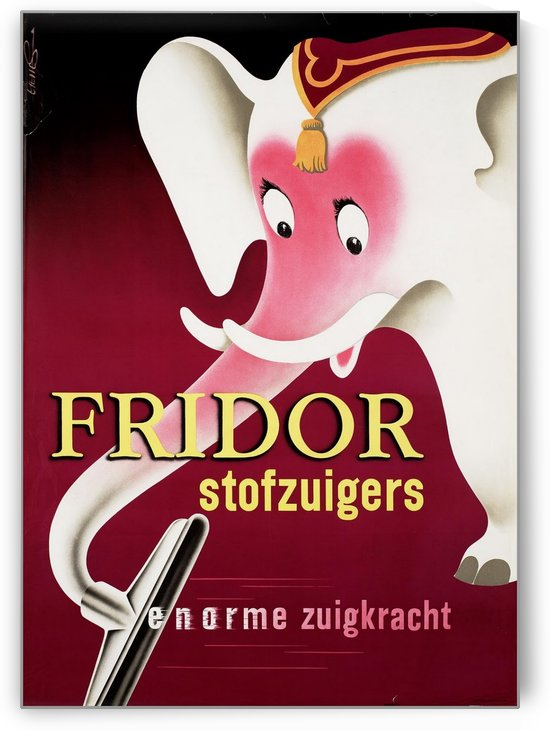 Fridor stofzuigers by VINTAGE POSTER