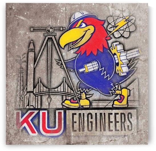 Vintage KU Engineers Art by Row One Brand