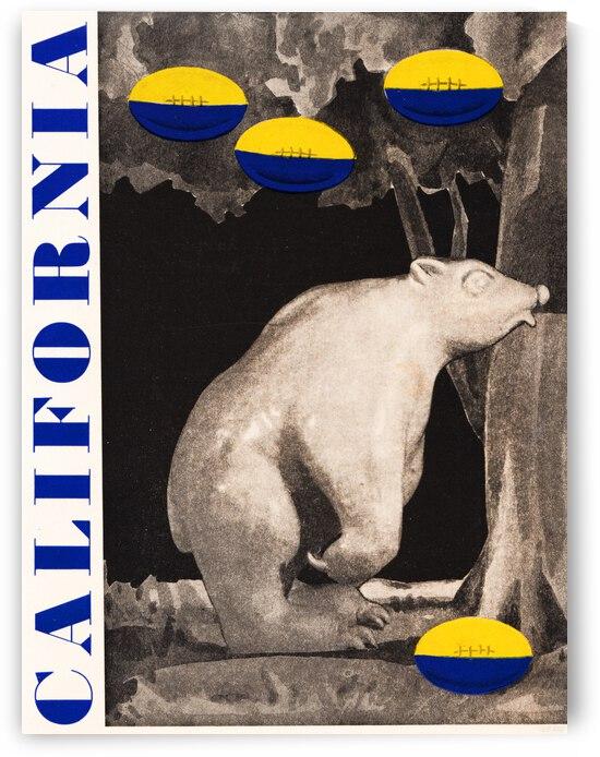 1934 California Bears Vintage Football Art by Row One Brand