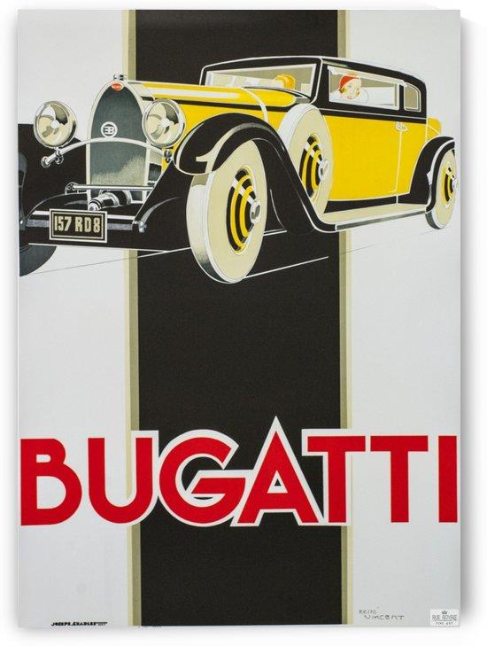 Bugatti vintage poster fine art lithograph by VINTAGE POSTER