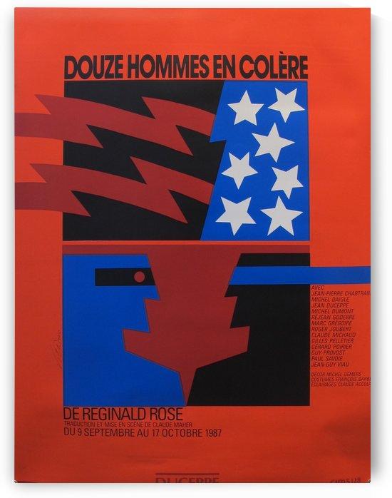 Douze Hommes en Colere by VINTAGE POSTER