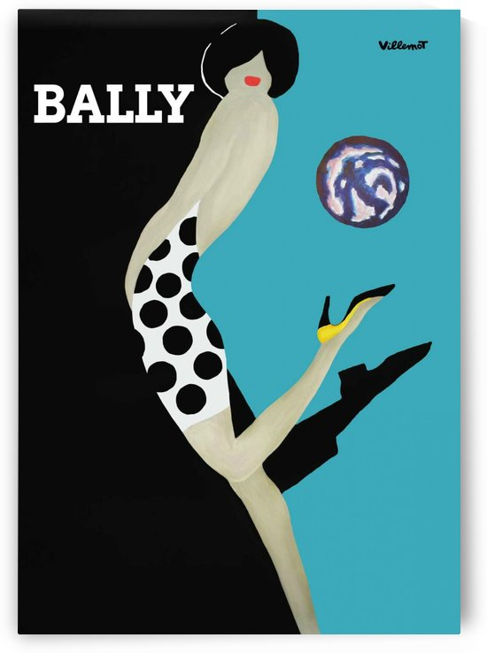 Vintage Bally Poster Giclee Print Aqua Blue by VINTAGE POSTER