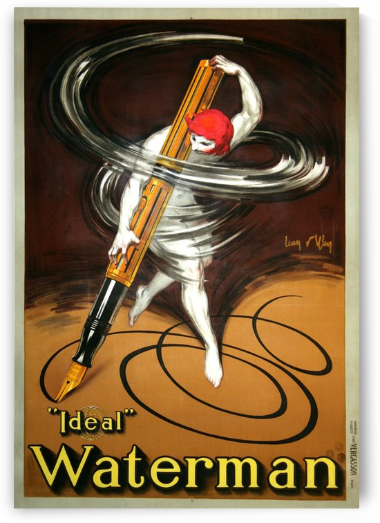 Ideal Waterman by VINTAGE POSTER